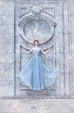 Vinterprinsessa, snöig landskap Royaltyfria Bilder