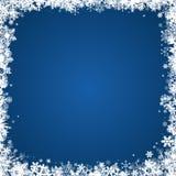 Vinterramwithsnowflakes Fotografering för Bildbyråer