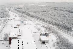 Vintersäsong i Ryssland arkivfoto