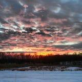 Vinters brand och is Arkivfoto
