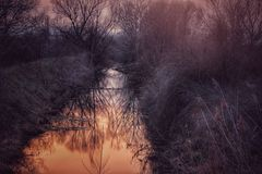 Vintersaga Arkivfoton