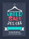 VinterSale reklamblad eller baner Royaltyfri Bild