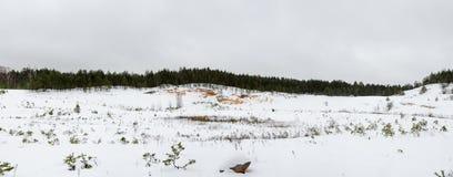 Vintersandgrop Arkivfoto