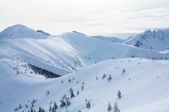 Vintersikt av bergen fotografering för bildbyråer