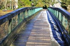 Vintersikt av en bro Royaltyfri Fotografi
