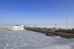 Vintersikt av marina Royaltyfria Foton