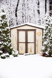 Vinterskjul Arkivfoto