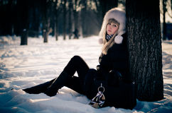 Vinterskönhet Arkivbild
