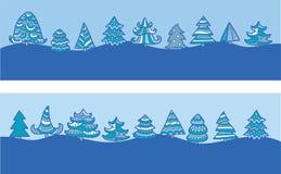 Vinterskog Arkivfoto