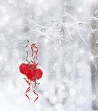 Vinterskoghjärta Royaltyfria Bilder