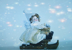 Vintersläde Royaltyfri Foto