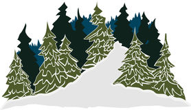Vinterslingaplats Arkivbild