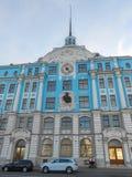Vinterslott i St Petersburg Ryssland Arkivbilder