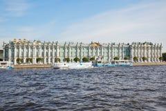 Vinterslott. St Petersburg. Ryssland. Royaltyfri Foto