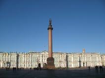 Vinterslotten i St Petersburg Royaltyfria Bilder
