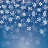 Vintersnö eller snöflinga Arkivbilder