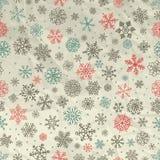 Vintersnö flagar sömlös bakgrund på skrynkligt stock illustrationer