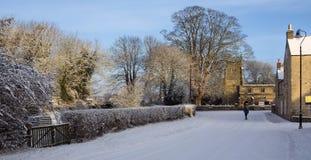 Vintersnö - North Yorkshire - England Royaltyfria Foton