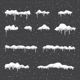 Vintersnödrivabakgrund vektor illustrationer