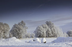 Vintersnödrivor, rysk vinter Fotografering för Bildbyråer