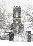 Vintersnöstorm Arkivfoto