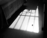 Vintersolen det södra fönstret av sovrummet Fotografering för Bildbyråer