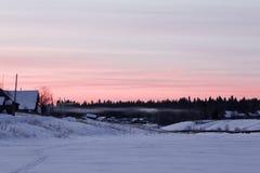 Vintersoluppgång Royaltyfria Bilder