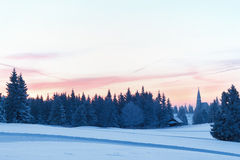 Vintersoluppgång Arkivbilder