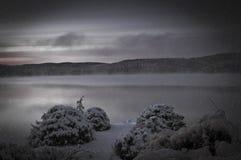 Vintersoluppgång Arkivfoto