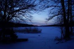 Vintersoluppgång Royaltyfri Foto