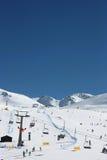 Vintersportar på Sierra Nevada berg Royaltyfri Foto