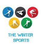 Vintersportarna Arkivfoto