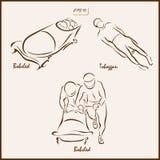 Vintersportarna royaltyfri illustrationer