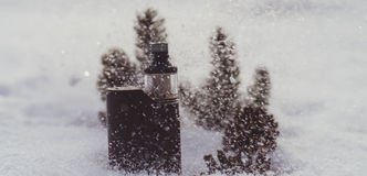 Vintersprejflaska Royaltyfria Bilder
