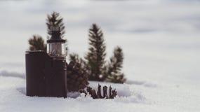 Vintersprejflaska Royaltyfri Bild