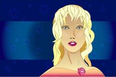 Vinterstående royaltyfri illustrationer
