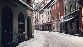 Vinterstad Arkivfoto