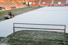 Vinterstadion. Arkivfoton