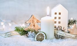 Vinterstilleben för glad jul Royaltyfri Foto