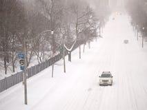 Vinterstormen slår Toronto royaltyfri bild