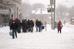 Vinterstormen slår Toronto royaltyfri foto