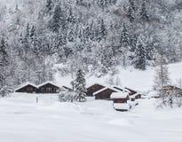 Vinterstuga, Frankrike Arkivbild