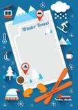 Vintersymbolsram och bakgrund Royaltyfri Illustrationer