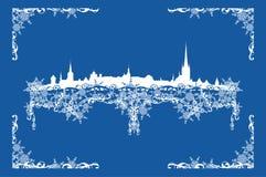 VinterTallinn dekor vektor illustrationer