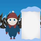 Vintertemabarn Stock Illustrationer