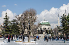 Vinterturismdropp Arkivbilder