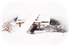 Vintertystnad Arkivbild