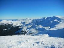 Vinterukrainare Carpathians Royaltyfri Foto
