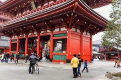 Vinterumgänge till den Senso-Ji templet och relikskrin i Tokyo, Japan Royaltyfria Foton