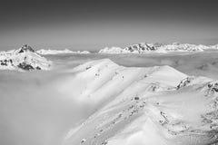 Vinterunderland med moln i St Michael royaltyfria foton